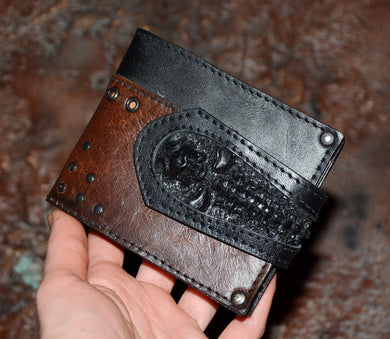 Skull wallet - Black and Brown color