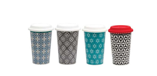 Porcelain Travel Mug with Silicone Lid (450ml)