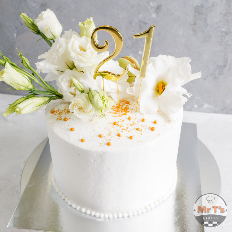 Miraculous 21 Round Birthday Cake In White Mr Ts Bakery Funny Birthday Cards Online Barepcheapnameinfo