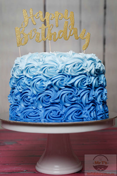 blue-rosette-birthday-cakes-with-sign-on-top