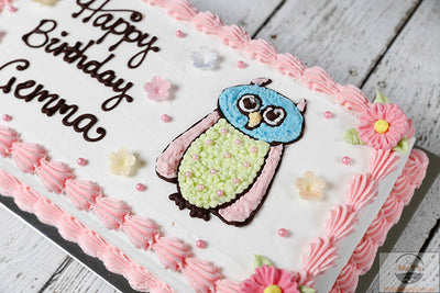 owl-buttercream-icing-cake