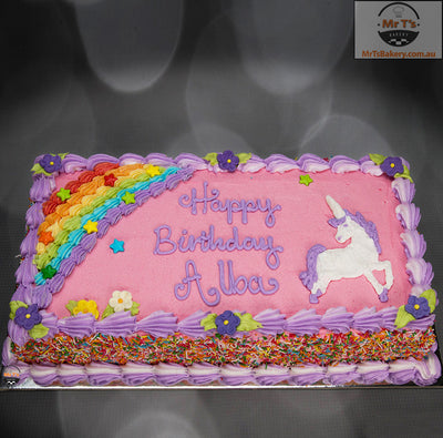 Brilliant Unicorn Cakes Unicorn Cake Rectangle Funny Birthday Cards Online Inifofree Goldxyz