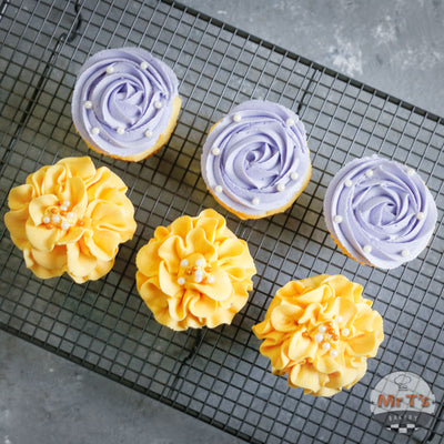 purple-yellow-cupcakes