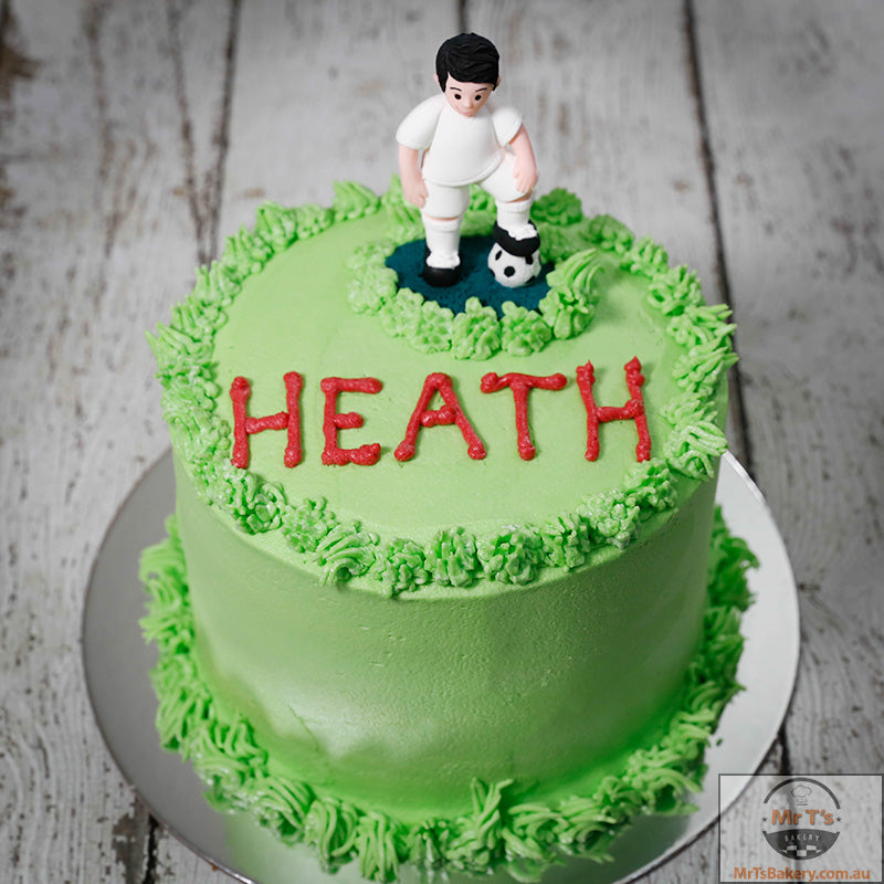 Swell Soccer Player Cake Mr Ts Bakery Personalised Birthday Cards Paralily Jamesorg