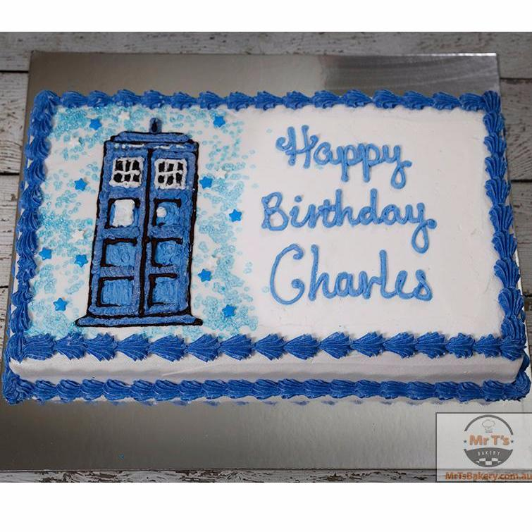 Incredible Tardis Birthday Cake Doctor Who Theme Funny Birthday Cards Online Alyptdamsfinfo