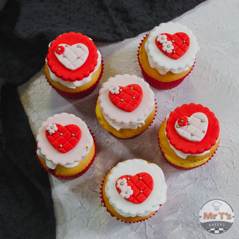 Valentine heart cupcakes brisbane delivery