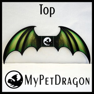 Green Attachable Dragon Wings