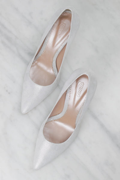 Super Sparkly Bridal Shoes Made Using Metallic Leather by Emmy London