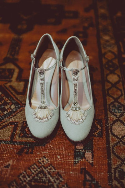 Mint Green Eva Bridal Shoes Created Using The Emmy London Bespoke Service