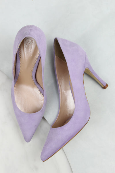Bespoke Lilac Court Shoes by Emmy London Designed in London Handmade in Portugal