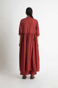 Back Gather Jacket- Madder Red