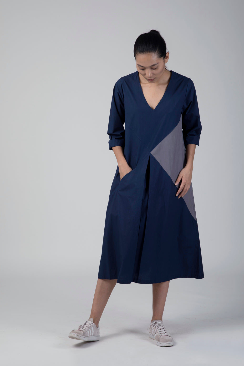 Blue Triangle Dress