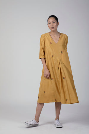 Ochre Triangle Dress