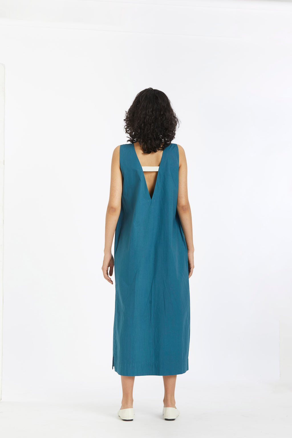 Two pleat dress-Teal