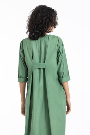 Knife pleat dress-Fern