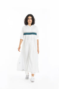 Back pleat jacket co-ord white