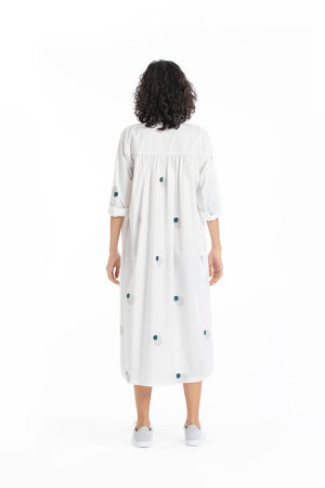 Pleat dress-White