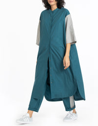 Shirt with shoulder detail co-ord teal