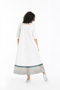 Turtle neck dress co-ord- White