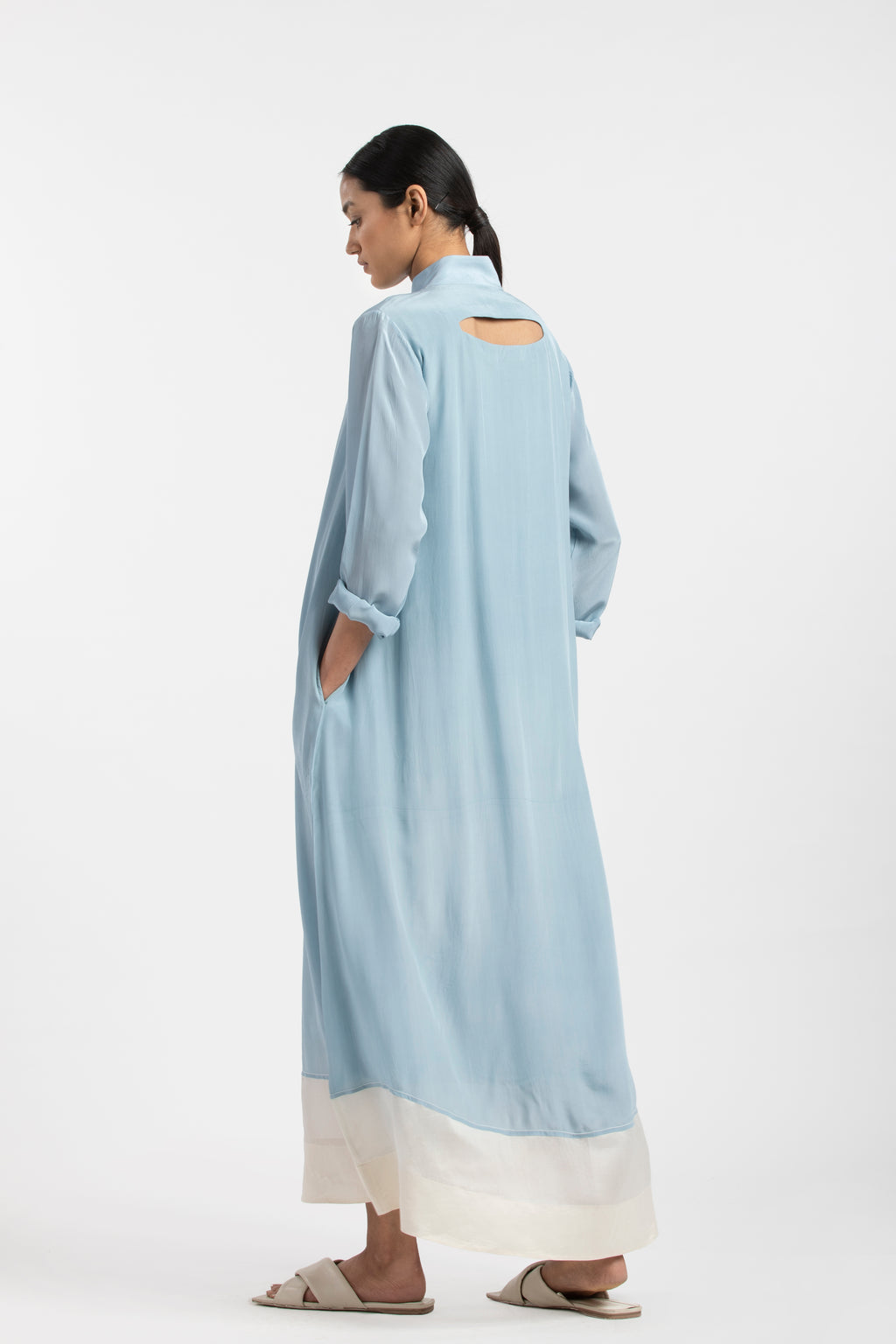 Turtle Neck Dress- Powder Blue
