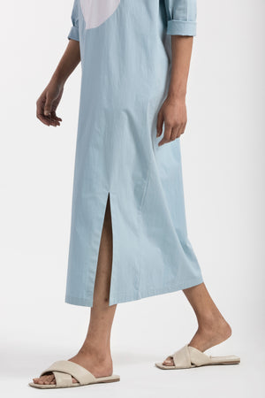 Circle Dress- Powder Blue