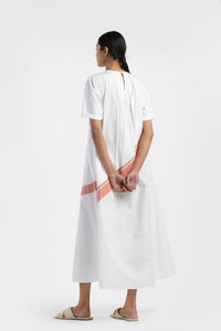 Applique Dress Co-ord- White