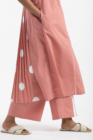 Back Pleat Dress- Dusty Rose