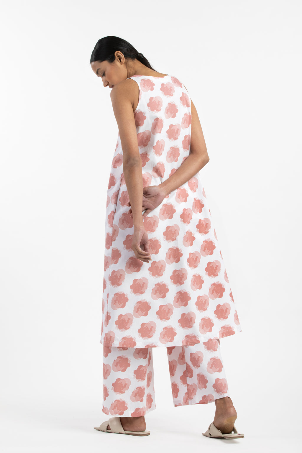 V Neck Dress- Dusty Rose Floral