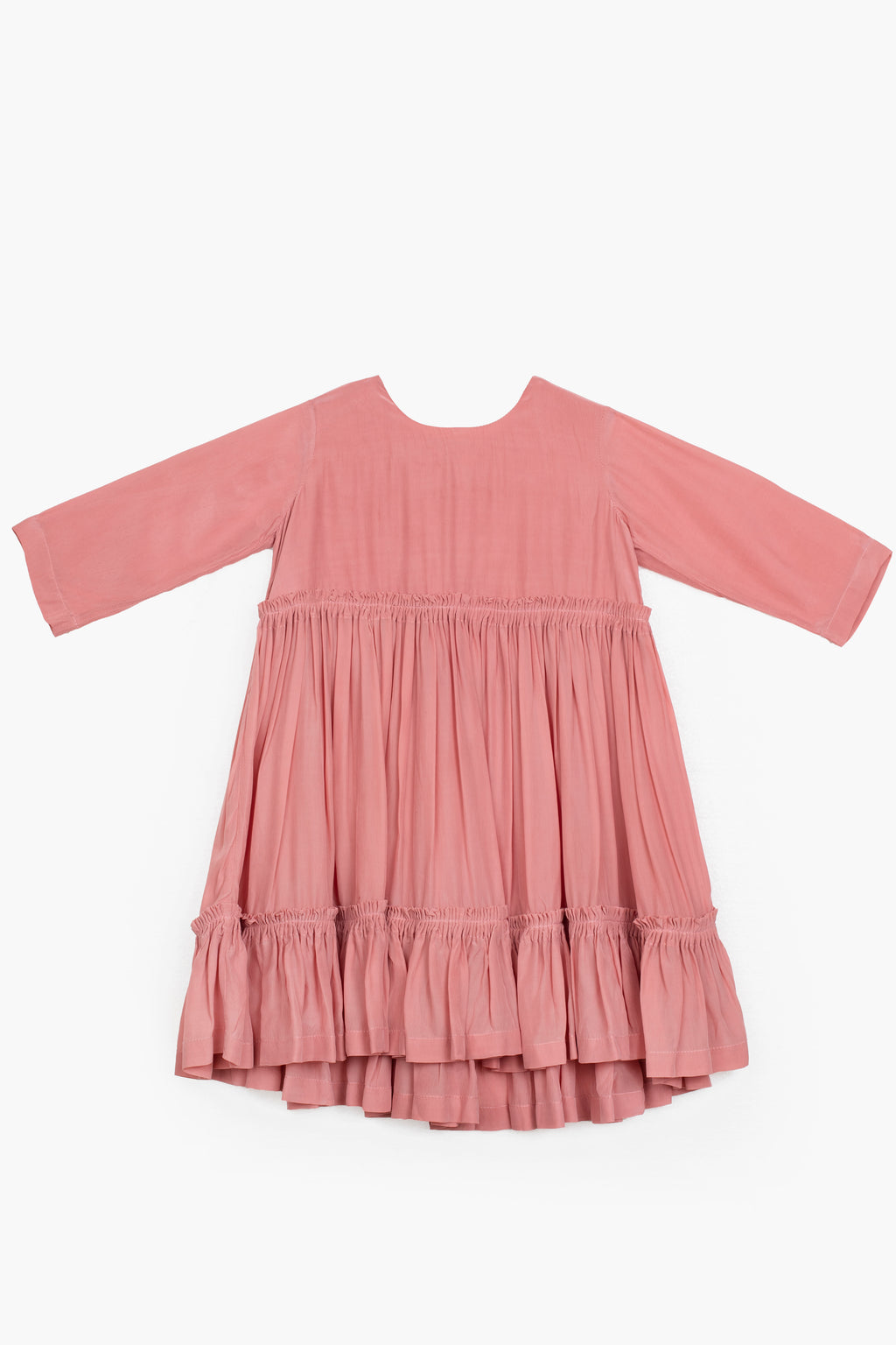 Frill Dress- Dusty Rose