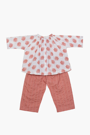 Embroidered Pant- Dusty Rose