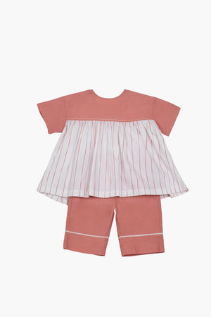 Gather Top Co-ord- Dusty Rose