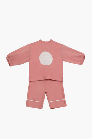 Circle Top Co-ord- Dusty Rose