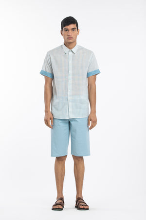 Half Sleeve Bermuda Co-ord - Checks