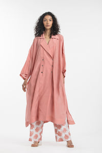 Overlap Kaftan Co-ord- Dusty Rose