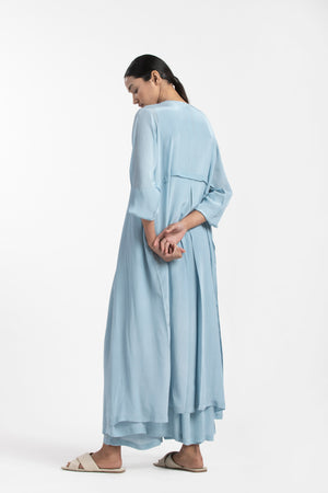 Back Yoke Jacket- Powder Blue