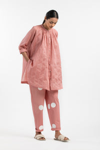 New Narrow Bottom- Dusty Rose Polka