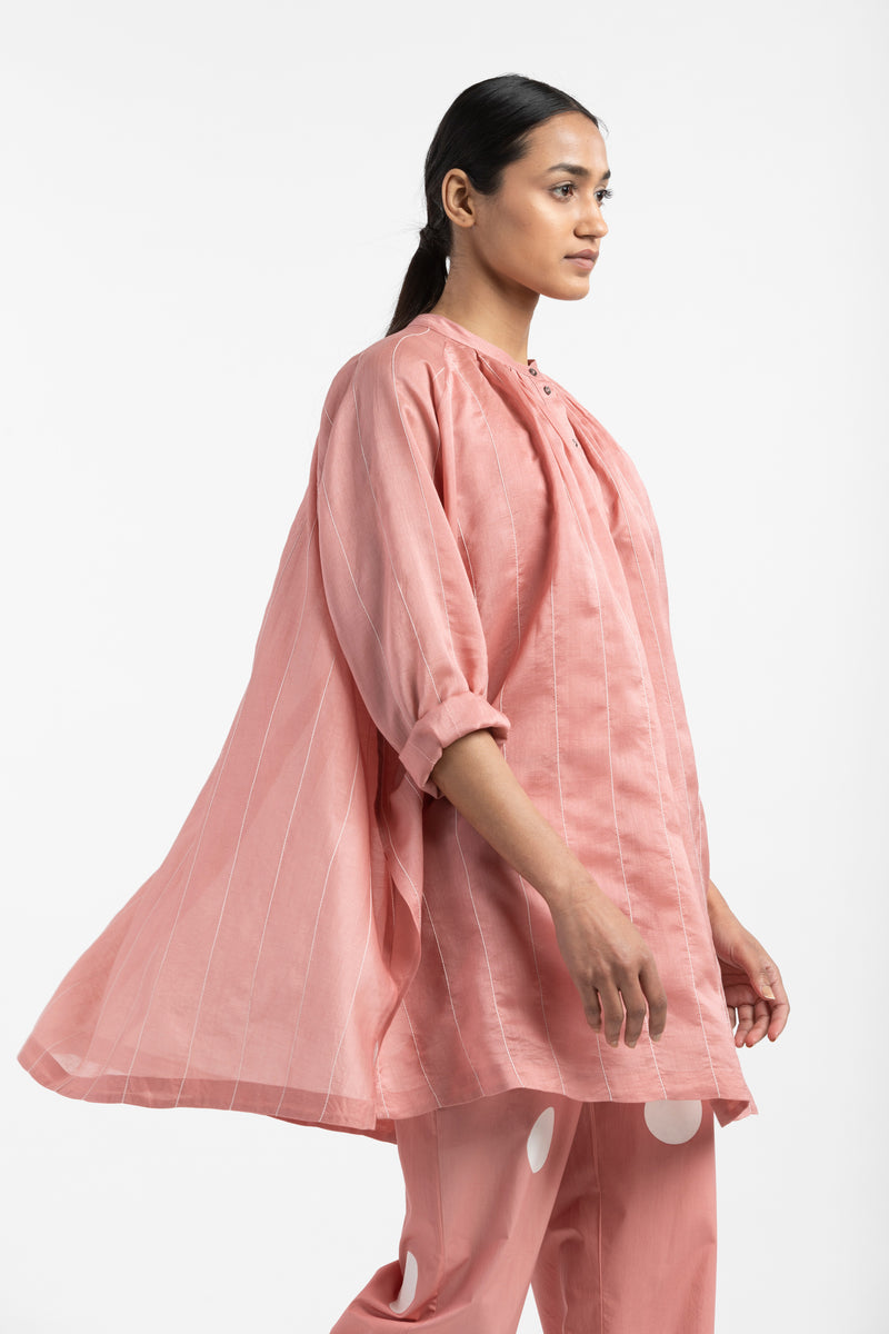 Peasant Top Co-ord- Dusty Rose