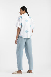 Short Top Co-ord- Powder Blue