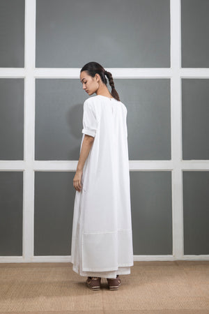 Double Layer Dress- White