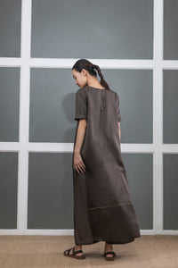 Double Layer Dress- Dark Olive