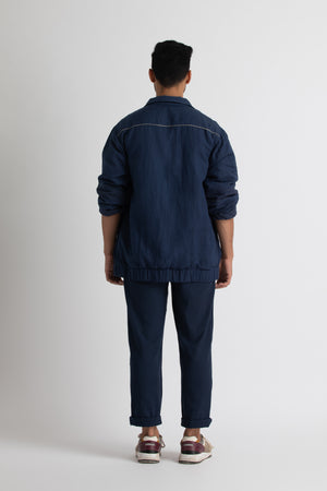 Bomber Jacket- Navy