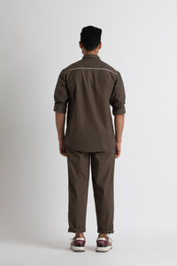 Front Pocket Shirt- Olive