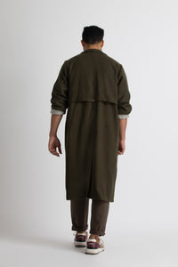 Minimal Trench Co-ord- Olive