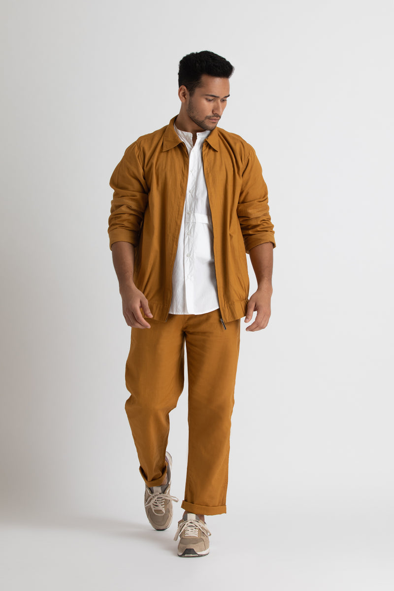 Bomber Jacket Co-ord- Mustard