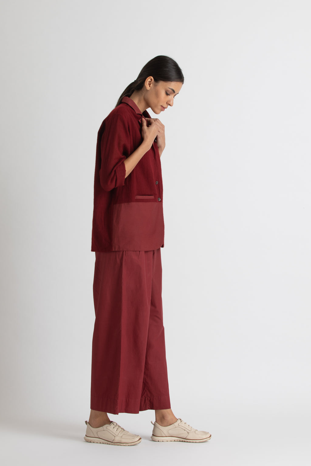 Wide pant - Madder-Red