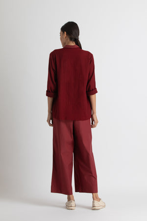 Short jacket - co-ord - madder-red