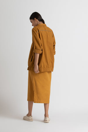 Bomber jacket co ord- yellow