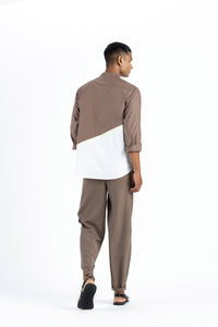 Engineered Back Shirt Co-ord-Cedar