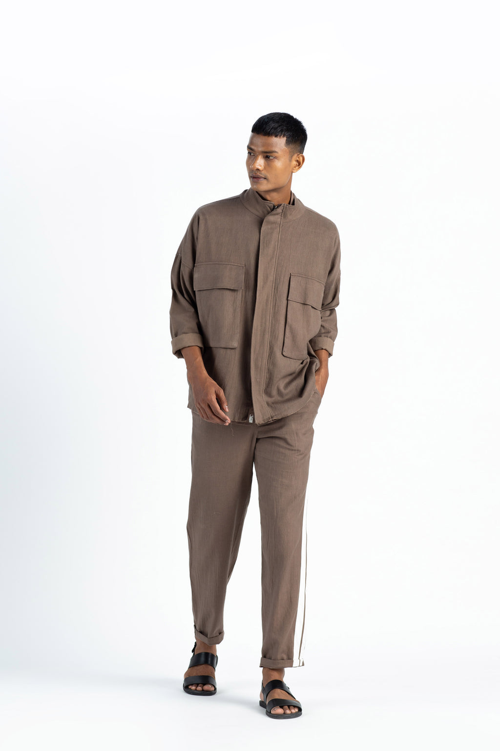 Patch Pocket Jacket Co ord- Cedar (Set of 3)
