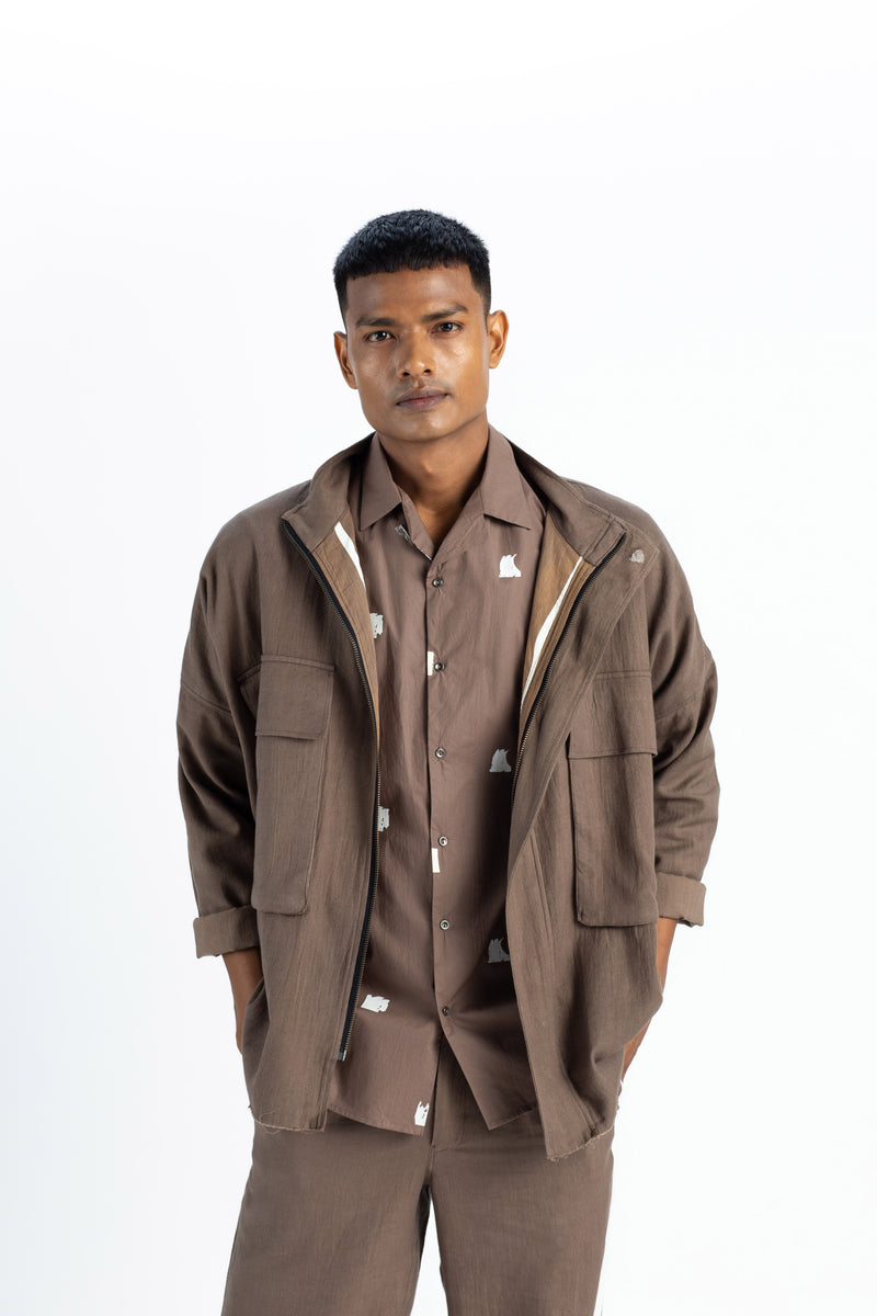 Patch Pocket jacket- Cedar